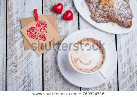 Coffee with croissant and cinnamon Stock photo © stevanovicigor