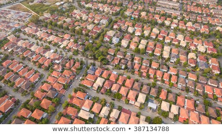 Aerial view over Bangkok suburb Stock photo © RuslanOmega
