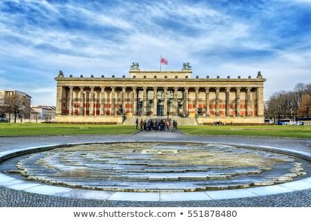 Eski müze Berlin ada Almanya gökyüzü Stok fotoğraf © elxeneize