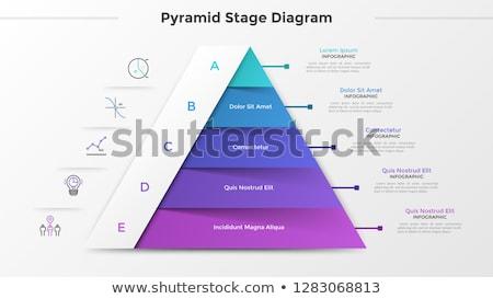 vector illustration of pyramids Stock photo © trinochka