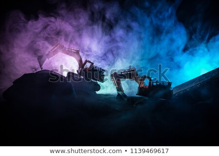 Dredger at dusk Stock photo © rufous