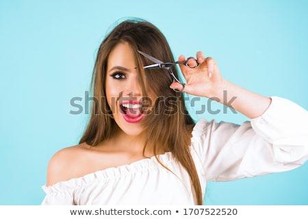 バング 髪 肖像 美しい 若い女の子 現代 ストックフォト © cosma