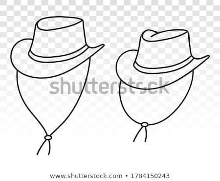 cowboy · człowiek · projektu · mężczyzna · zwrócić · zachodniej - zdjęcia stock © lenm