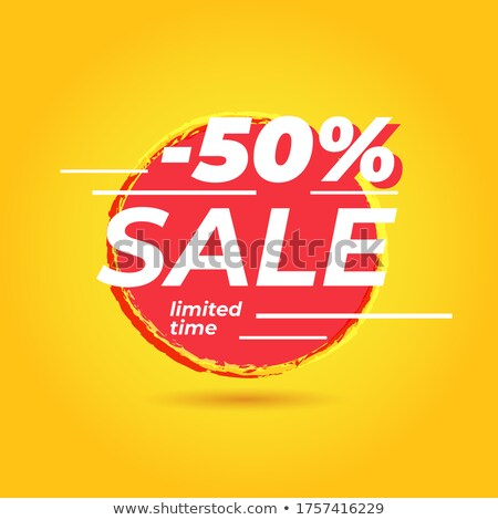 summer discount and 50 percentages off in label with sun stock photo © marinini