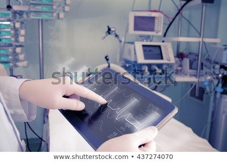 Teste equipamentos médicos sangue para cima medicina Foto stock © Andriy-Solovyov