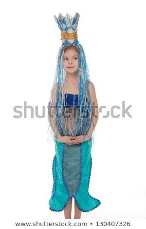 Attractive girl in mermaid costume Stock photo © Aikon