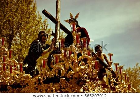 イースター スペイン 参加者 白 キャンドル ストックフォト © nito