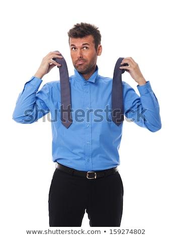 Adam ne aşınma serin gömleksiz moda Stok fotoğraf © Discovod