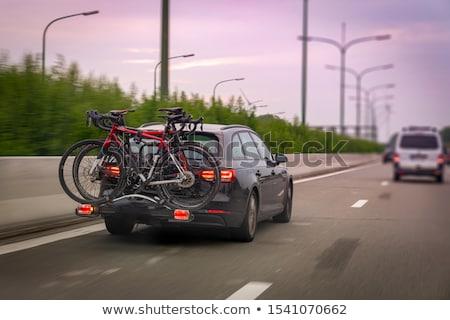 Coche bicicletas plata híbrido carretera Foto stock © ArenaCreative