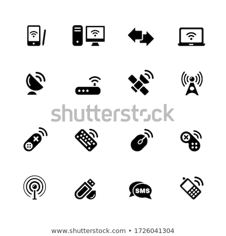 Vector icon broadcasting station Stock photo © zzve