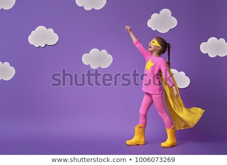 super · lumineuses · rose · nuages - photo stock © silkenphotography