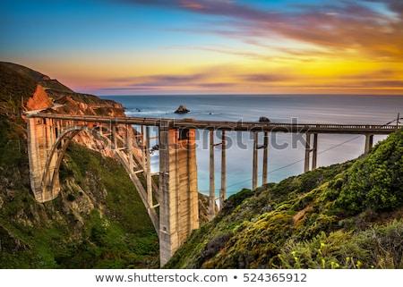 pont · historique · grand · plage · ciel · eau - photo stock © wolterk