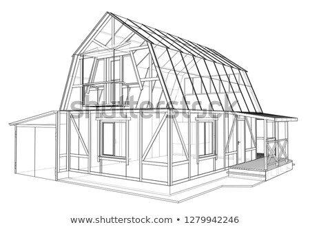 Stock photo: Timber framed house facade