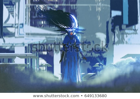 Guerrier science-fiction illustration muscle homme robot Photo stock © patrimonio