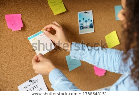 Inspire on Cork board with Note Paper Stock photo © stevanovicigor