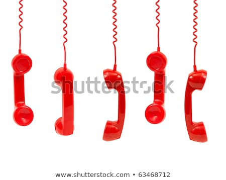 Hanging rotary telephone hand sets Stock photo © pxhidalgo