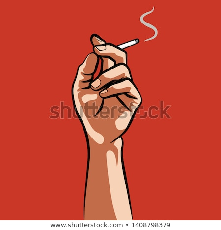 cigarette in hand stock photo © badmanproduction