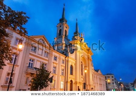 gyám · templom · történelmi · Varsó · Lengyelország · építkezés - stock fotó © rognar