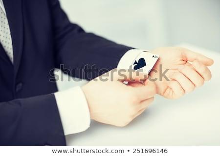 Affaires ace carte caché veste mains Photo stock © stokkete