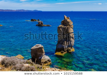 San Pietro island - Le Colonne cliff Stock photo © Antonio-S