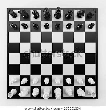 Tablero de ajedrez superior vista todo fondo color Foto stock © vlad_star