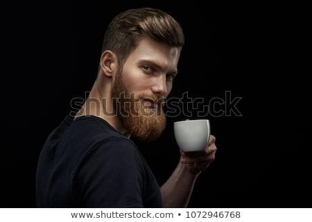 espresso coffee   man drinking at cafe portrait stock photo © maridav