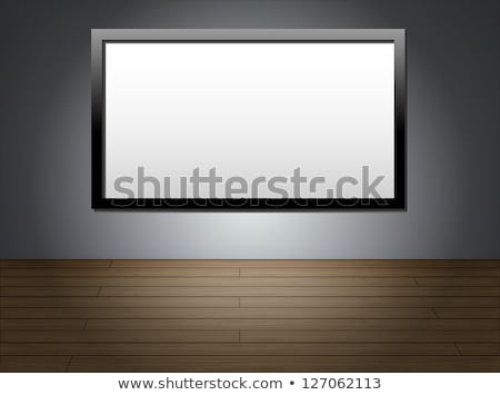 tft tv hanging on the wall background stock photo © smeagorl