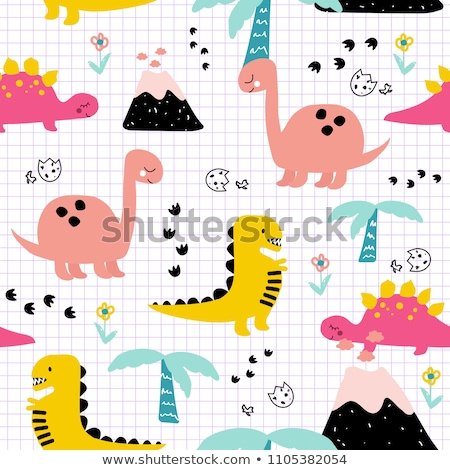 Seamless pattern with baby footprint stock photo © elenapro