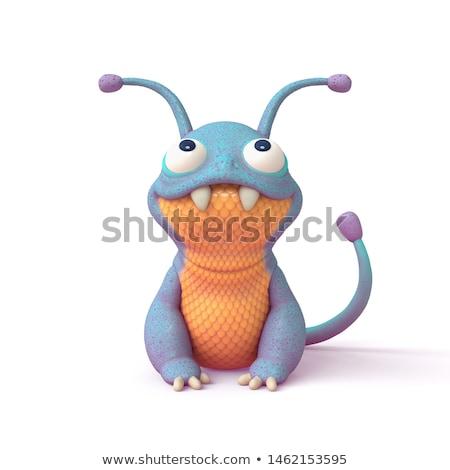 Yabancı dizayn yağ canavar sevimli örnek Stok fotoğraf © serdarduran