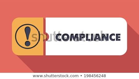 Compliance on Scarlet in Flat Design. Stock photo © tashatuvango