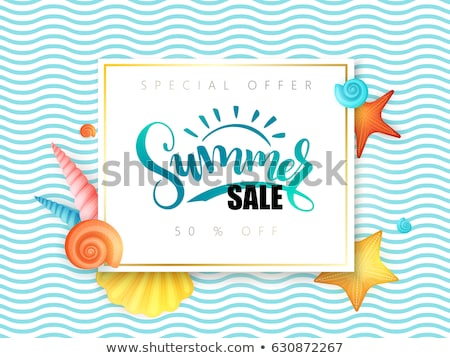 Conchs and seashells for sale on a beach Stock photo © juniart