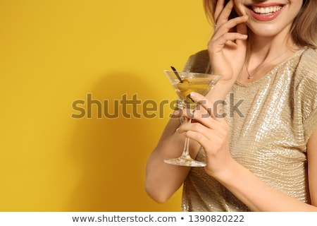 fille · martini · image · jeunes · souriant - photo stock © pressmaster