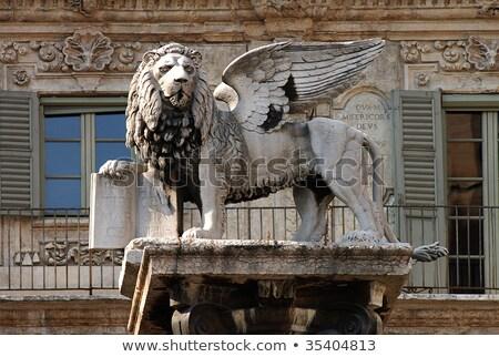Aslan verona İtalya mimari güç Stok fotoğraf © marco_rubino