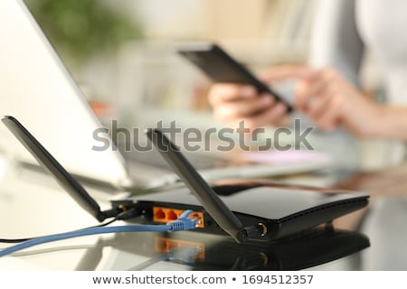 蘭 · ケーブル · スイッチ · ネットワーク · ビジネス · 光 - ストックフォト © oleksandro