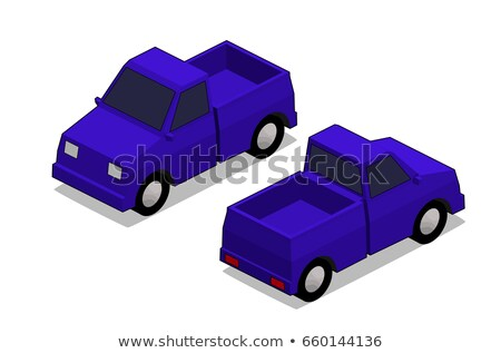 Orthographic blue truck Stock photo © ambualang