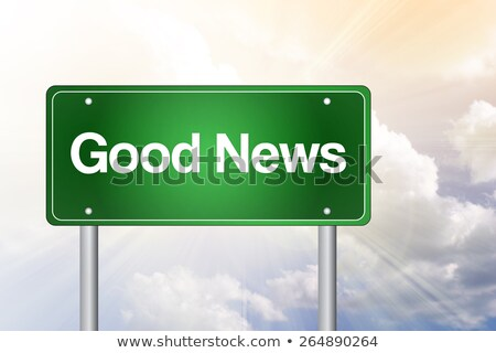 Good News on Green Highway Signpost. Stock photo © tashatuvango