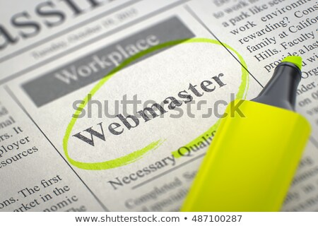 fejlesztő · újság · álláskeresés · munka · háló · állás - stock fotó © tashatuvango