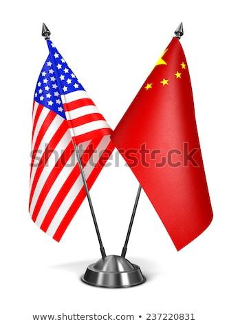 USA narodów republika miniatura flagi odizolowany Zdjęcia stock © tashatuvango