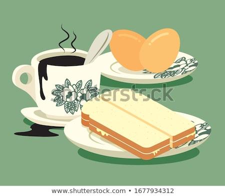 белый · хлеб · тоста · икона · сыра · продовольствие · искусства - Сток-фото © aliaksandra