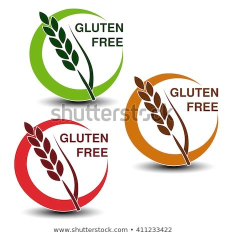 Kahverengi vektör glutensiz işaretleri yalıtılmış beyaz Stok fotoğraf © slunicko