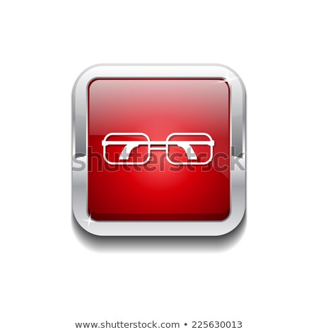 Spectacle Red Vector Icon Button Stock photo © rizwanali3d