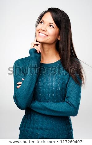 Ritratto felice donna copia spazio Foto d'archivio © deandrobot