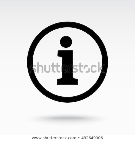 Información icono blanco escritorio información contra Foto stock © tkacchuk