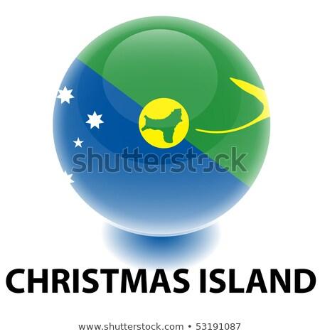 地図 フラグ ボタン クリスマス 島 ベクトル ストックフォト © Istanbul2009