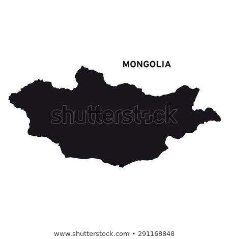 Térkép Mongólia zászló szimbólum fehér szív Stock fotó © mayboro1964