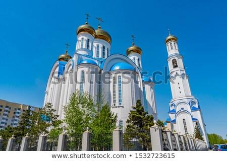 Ortodoks katedral Romanya 30 beyaz kule Stok fotoğraf © igabriela