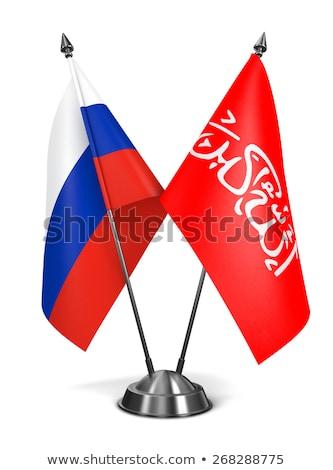Россия миниатюрный флагами изолированный белый фон Сток-фото © tashatuvango