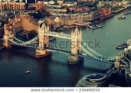 Panoramic view of Tower Bridge and Tower of London Stock photo © Joningall