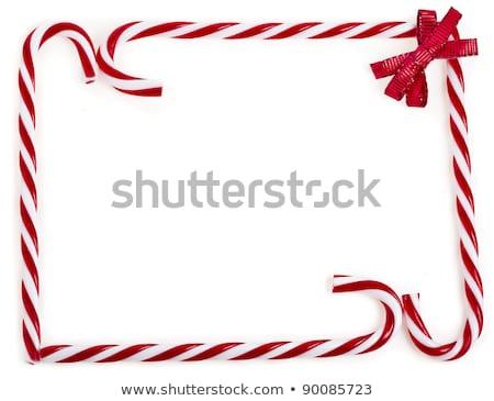 karácsony · csemegék · keret · absztrakt · kekszek · csokoládé - stock fotó © irisangel