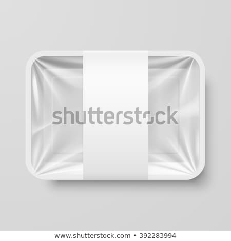 white plastic container packaging for food vector illustration stock photo © konturvid